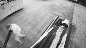Security cameras caught this thief in the garage of a Springbank home while a couple were away in B.C. Five hours later, the thieves returned and robbed the garage