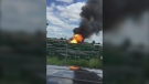 Caught on cam: Fire erupts at propane facility