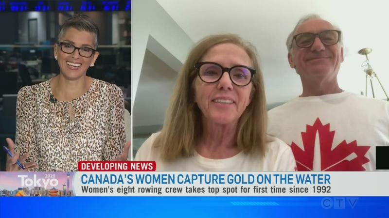 Proud parents celebrate Women's rowing gold