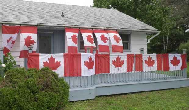 North Bay woman adding Canadian flags to her house each time Canada medals in Tokyo