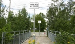 The North Bay-Mattawa Conservation Authority will begin work next week to remediate 45 metres of Chippewa Creek at Oak Street and re-establish the Kinsmen Trail link across the creek with a new pedestrian bridge. (Eric Taschner/CTV News)