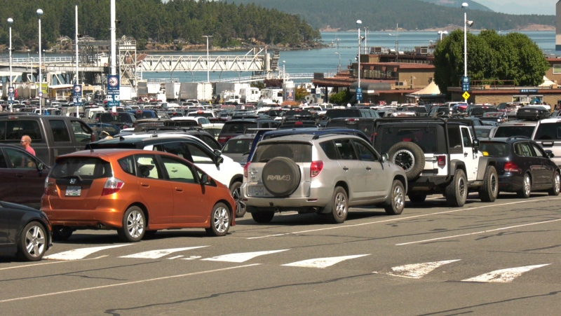 The Swartz Bay ferry terminal is pictured on July 30, 2021: (CTV News)