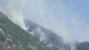 Wildfire breaks out in Manning Park