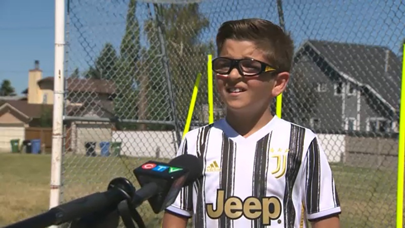 Luca Oliverio is a 10-year-old soccer player with serious foot skills and he's our Athlete of the Week.