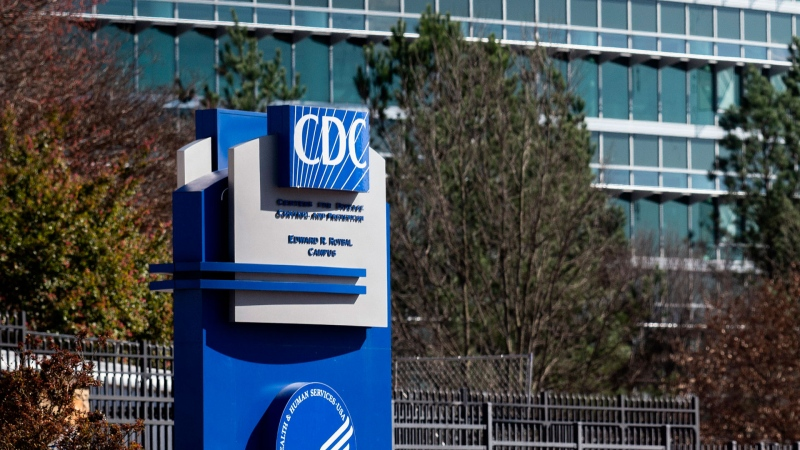 This March 6, 2020, file photo, shows the headquarters for Centers for Disease Control and Prevention in Atlanta. (AP Photo/ Ron Harris, File)