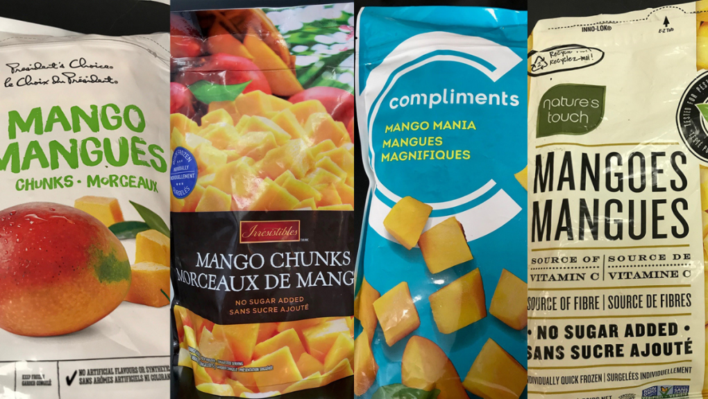 CFIA recalls certain frozen mango brands