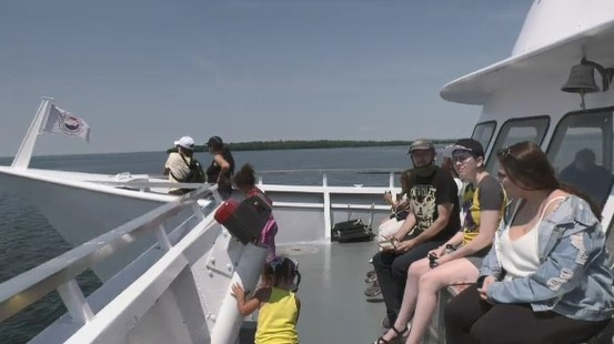 After being docked for all of summer 2020, the Chief Commanda Two cruise ship is back on Lake Nipissing and tourists who spoke with CTV News really enjoyed their experience.  July 31/21 (Jaime McKee/CTV News Northern Ontario)