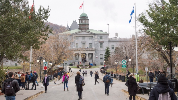McGill University's campus is seen Tuesday, November 14, 2017 in Montreal. THE CANADIAN PRESS/Ryan Remiorz