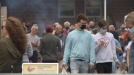 The Boyce Farmer's Market, a Fredericton favorite, was a busy spot Saturday morning hours after New Brunswick's mandatory order was lifted, and with it, all of the province's COVID-19 restrictions.