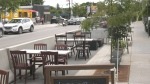 An extended patio at Urban Angus Steak and Wine in Arnprior. (Dylan Dyson/CTV News Ottawa)