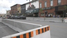 Sweet & Safe Café and Lumbertown Ale House set up extended patios on streets in Arnprior. (Dylan Dyson/CTV News Ottawa)