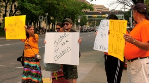 Members of Calgary's Indigenous community, along with their supporters, held a rally in conjunction with the day of action on Parliament Hill.