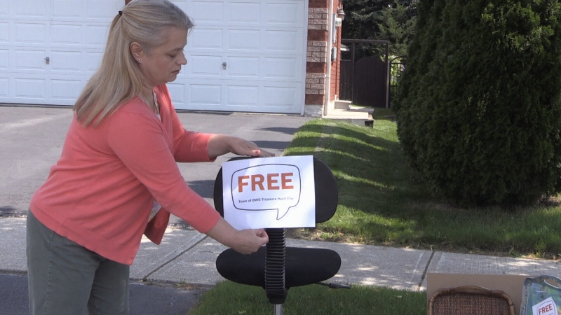 The town of Bradford West Gwillimbury has brought back its treasure hunt days, providing residents a unique way to get rid of unwanted items from their homes (Amanda Hicks/CTV News Barrie)