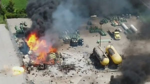 A large explosion led to a scary scene at a Barrie propane facility on Fri. July 30, 2021 (File)
