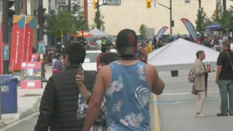 Many businesses in downtown Barrie are excited by the province's latest news that most restrictions will be lifted once it exits Step Three of the reopening plan (Kraig Krause/CTV News Barrie)