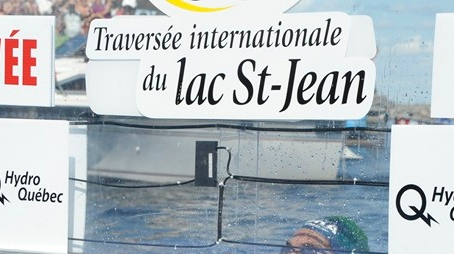 Only three swimmers, all from Quebec, took part in this year's edition of the Traversee Internationale de Lac St-Jean. Of those, two finished the race. (Photo: Traversee Internationale de Lac St-Jean)