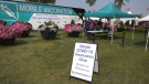 Alberta's mobile vaccine clinic at the Heritage Festival Saturday July 31, 2021 (CTV News Edmonton)