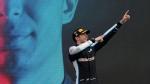 Alpine driver Esteban Ocon of France celebrates on the podium after the Hungarian Formula One Grand Prix, at the Hungaroring racetrack in Mogyorod, Hungary, Sunday, Aug. 1, 2021. (AP Photo/Darko Bandic)