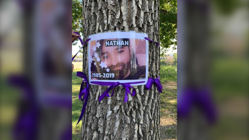 One of the 51 people who died of substance-related harms featured in the purple ribbon campaign. (Source: Overdose Awareness Manitoba)