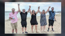 Larry Dietrich and his family in Port Elgin celebrating his continued recovery from COVID-19. (Courtesy: Alyssia Dietrich)