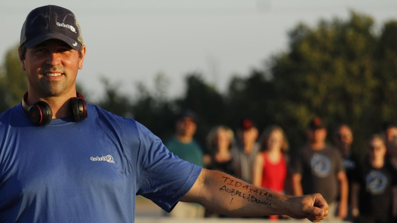 Jason Holtvogt began his 48 mile run on July 30 and will end it on Aug. 1 (T1D4x4x48/Facebook)