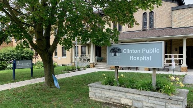 Exterior of the Clinton Public Hospital. (Aug. 1, 2021)
