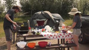 Matthew Lee and his family gathered at Pike Lake Provincial Park over the Saskatchewan Day long weekend. (Tyler Barrow/CTV Saskatoon)
