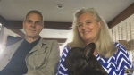 Richard and Alison Oleksiak with Penny's dog Norman are seen in this undated photo.