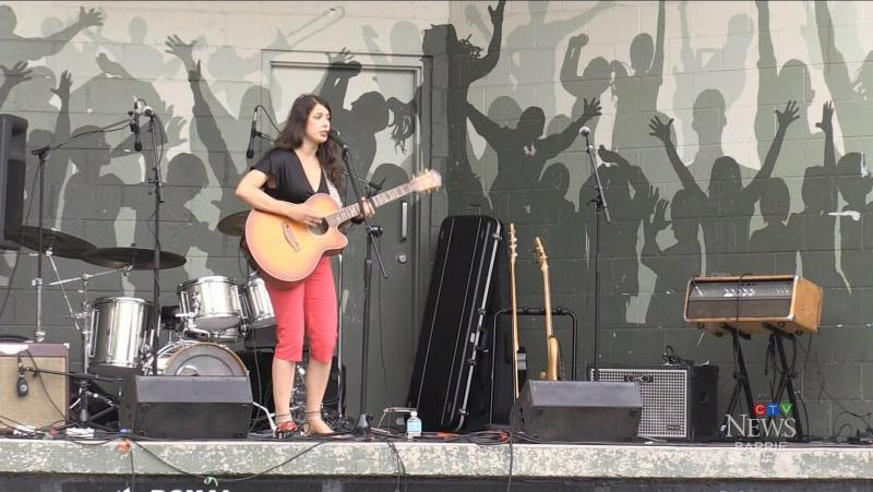 Kat Chabot performs as Tottenham Music in the Park returns for 2021 on Aug. 1 (Luke Simard/CTV News Barrie)