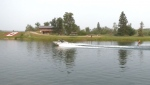 Competition at Predator Bay, south of Calgary, will run through the day on Monday.
