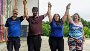 Kitchener man celebrates COVID-19 milestone