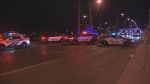 Toronto police say a man was taken to hospital after being struck by a vehicle near Eglinton and Midland.