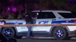 Police are seen on Darcel Avenue on Aug. 2, 2021 after a boy was shot. (Dave Ritchie)