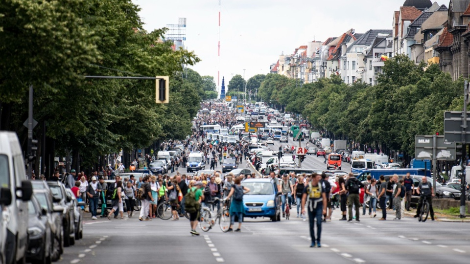 Protesting in Berlin, Germany