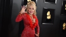 Dolly Parton arrives at the 61st annual Grammy Awards on Feb. 10, 2019, in Los Angeles.