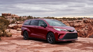 Toyota Sienna designers said they were influenced by the back end of the Toyota Supra sports car and the front of a Japanese bullet train. (Toyota Motor Corporation)