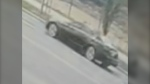 Police are seeking information on this dark-coloured sedan that was travelling with the BMW prior to the collision.