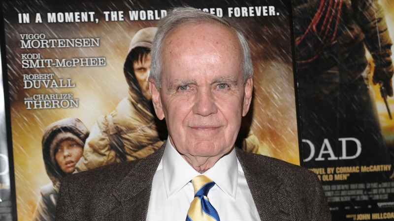 """Author Cormac McCarthy attends the premiere of """"The Road"""" in New York on Nov. 16, 2009. (AP Photo/Evan Agostini, File)"""