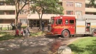 A fire broke out at an apartment building in Parkdale.