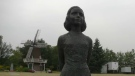The new statue of Anne Frank will be installed at Light Horse Park on Aug. 8, 2021.