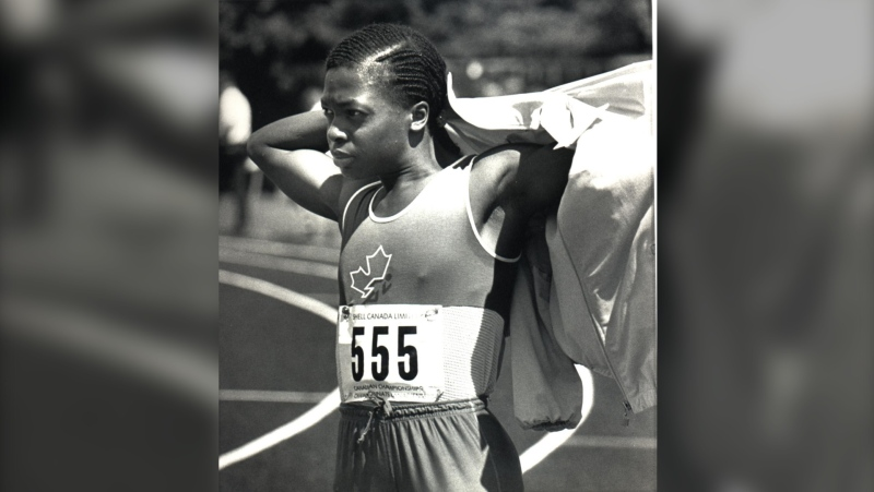 Angela Bailey is shown in this August 2, 1985 photo competing at the National Track and Field Championships in Ottawa.(CP PHOTO/str-Peter Jones)
