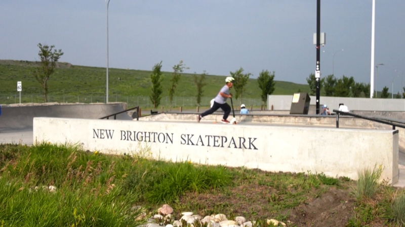 Residents in the southeast community of New Brighton discovered some offensive graffiti in the concrete bowl of the neighbourhood skate park over the weekend.