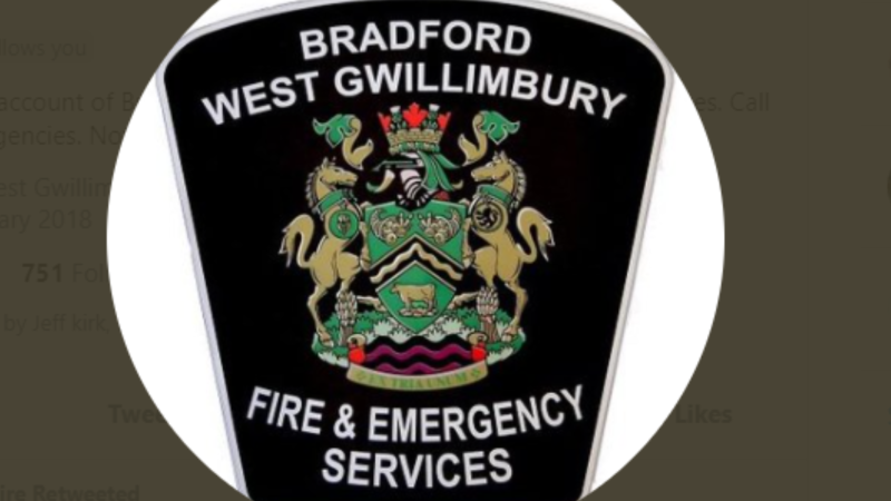 Logo for the Bradford West Gwillimbury Fire and Emergency Services on Tues., Aug 3, 2021. (FILE)