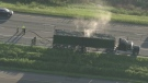 Vehicle fire on Highway 400 near Bradford