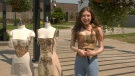 Designer Maddie Bevacqua at St.Clair College in Windsor, Ont. (Sijia Liu/CTV Windsor)
