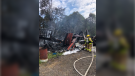 Chatham-Kent fire crews responded to a fire at 18934 Mull Road in Blenheim, Ont. on Tuesday, Aug. 3, 2021. (courtesy Chatham-Kent Fire and Emergency Service)