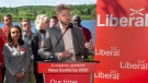 Premier Iain Rankin, accompanied by local candidates, releases the Liberal Party environment platform during a campaign event at Long Lake Provincial Park in Halifax on Tuesday, Aug. 3, 2021. THE CANADIAN PRESS/Andrew Vaughan