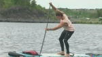 Will Aiello paddling for a great cause