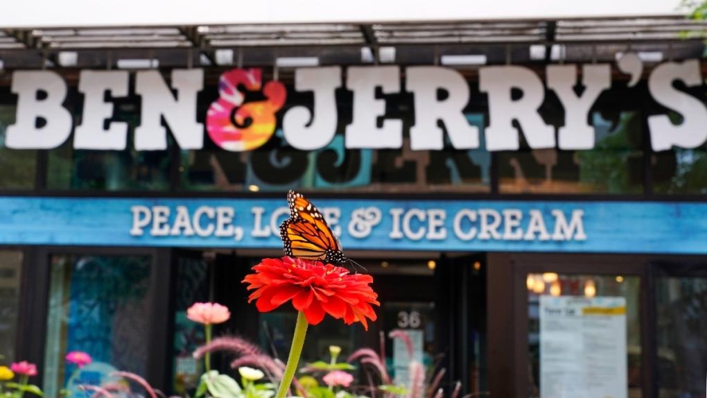 A Ben & Jerry's Ice Cream shop in Burlington, Vt.