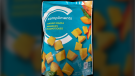 """Compliments brand """"Mango Mania"""" is one of several frozen mango products being recalled. (Canadian Food Inspection Agency)"""